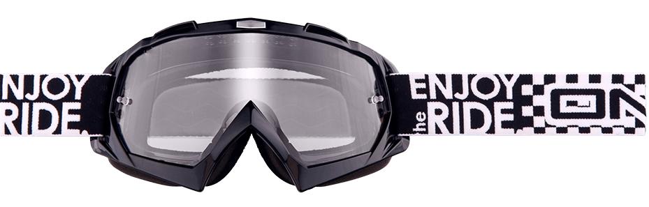Brýle O'neal B-Flex Launch, černá/čirá skla
