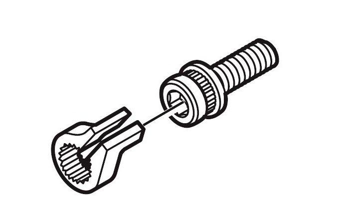 Šroub Shimano Y8C509000 k uchycení adaptéru kotoučové brzdy