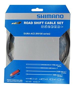 Řadící set lanka + bowdeny SHIMANO Dura Ace R9100 - černé