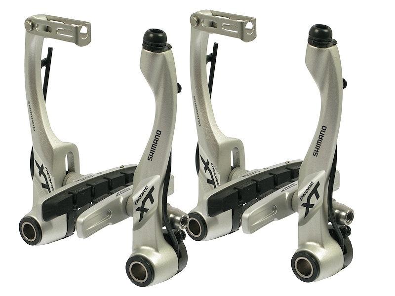 Brzdy Shimano XT BR-T780 - přední + zadní Stříbrná