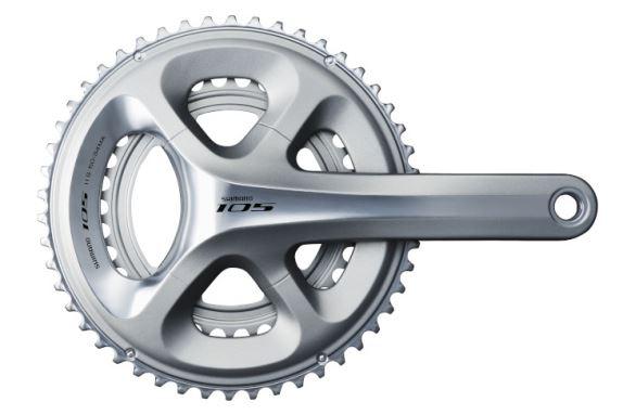 Kliky Shimano 105 FC-5800 - 11 sp - stříbrné 175mm 53x39