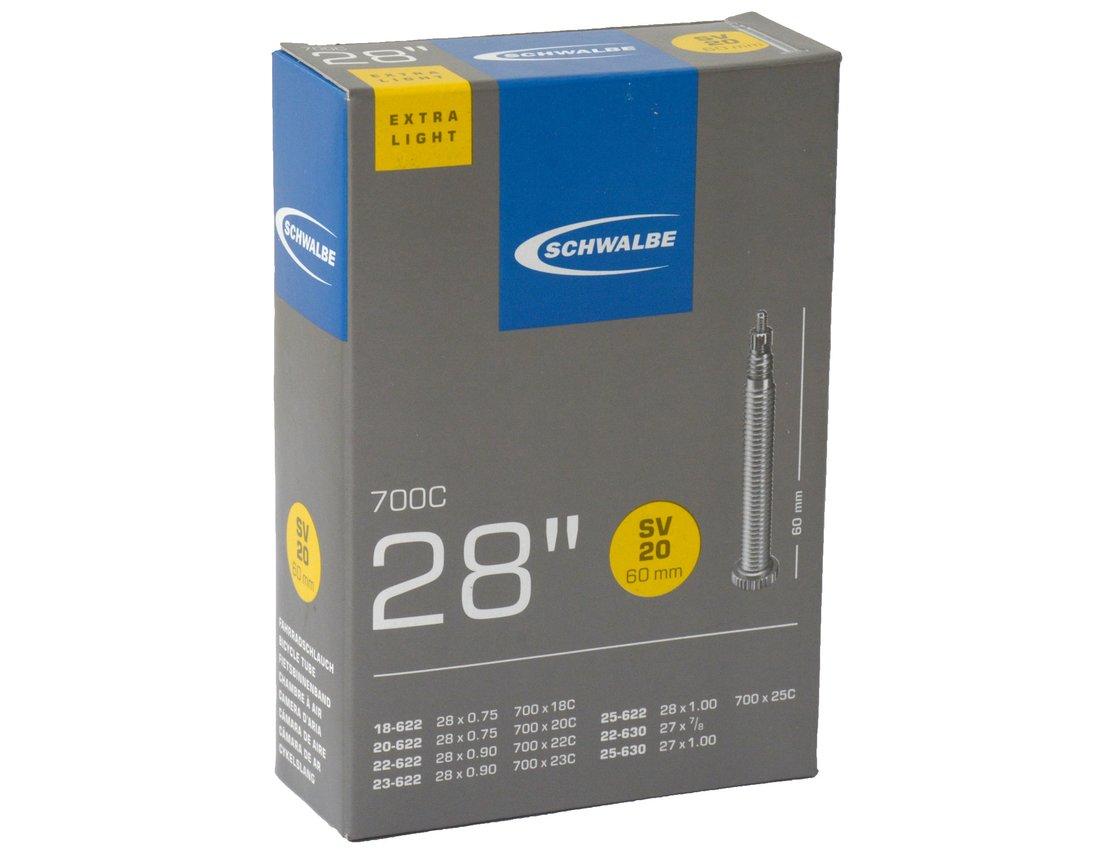 """Duše silniční Schwalbe 28"""" SV20 - 60mm 18/25-622 extra light"""