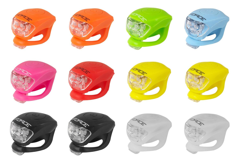 Blikačky FORCE DOUBLE - přední - různé barvy Oranžová
