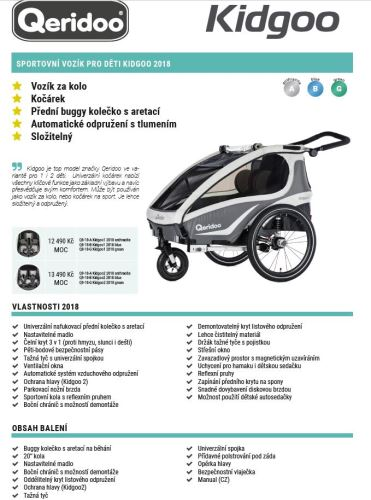 QERIDOO Vozík Kidgoo1 - 2018 Různé barvy