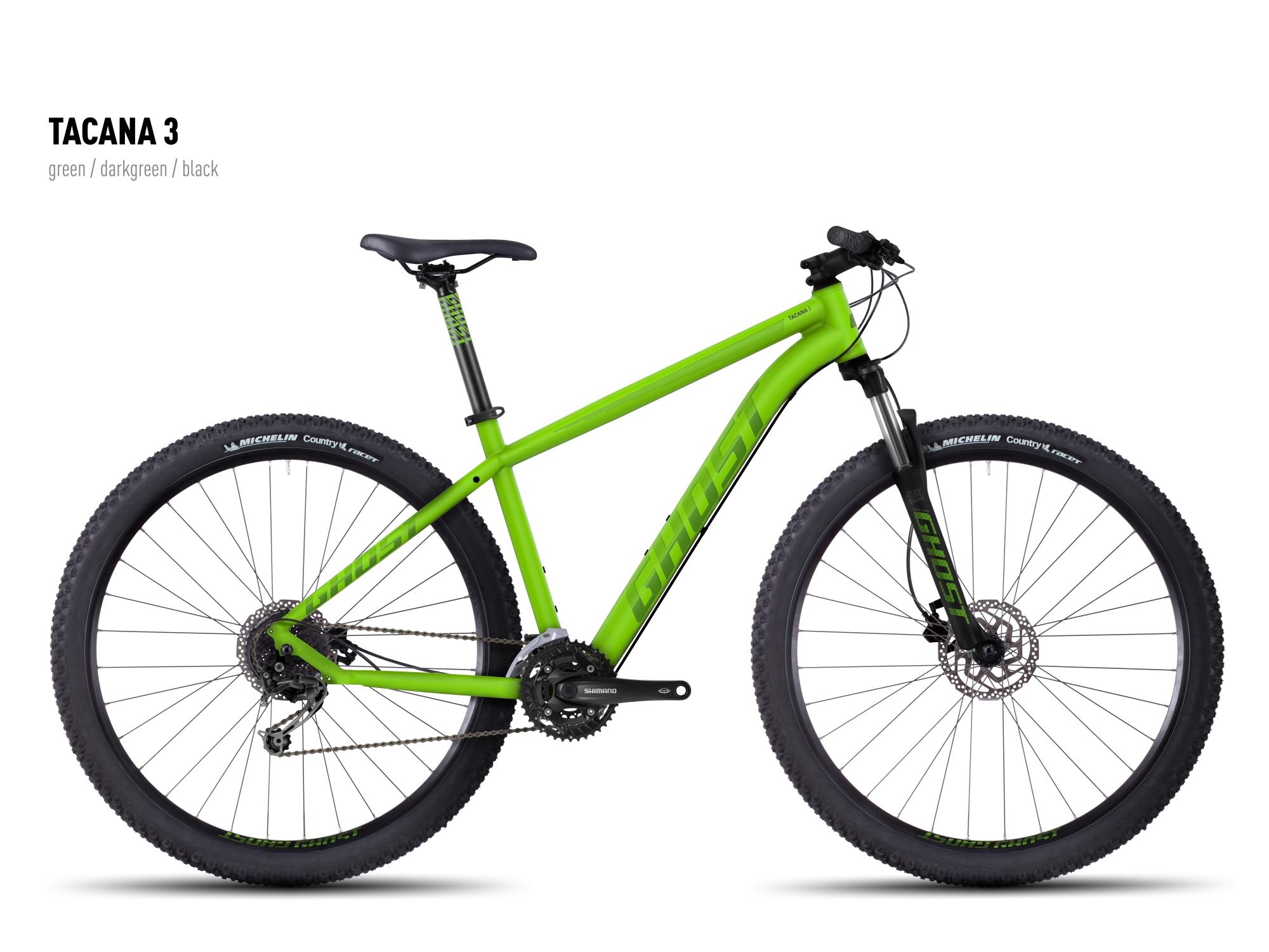 "GHOST Tacana 3 green/darkgreen/black S / 42cm / 16.5"" , 2016"