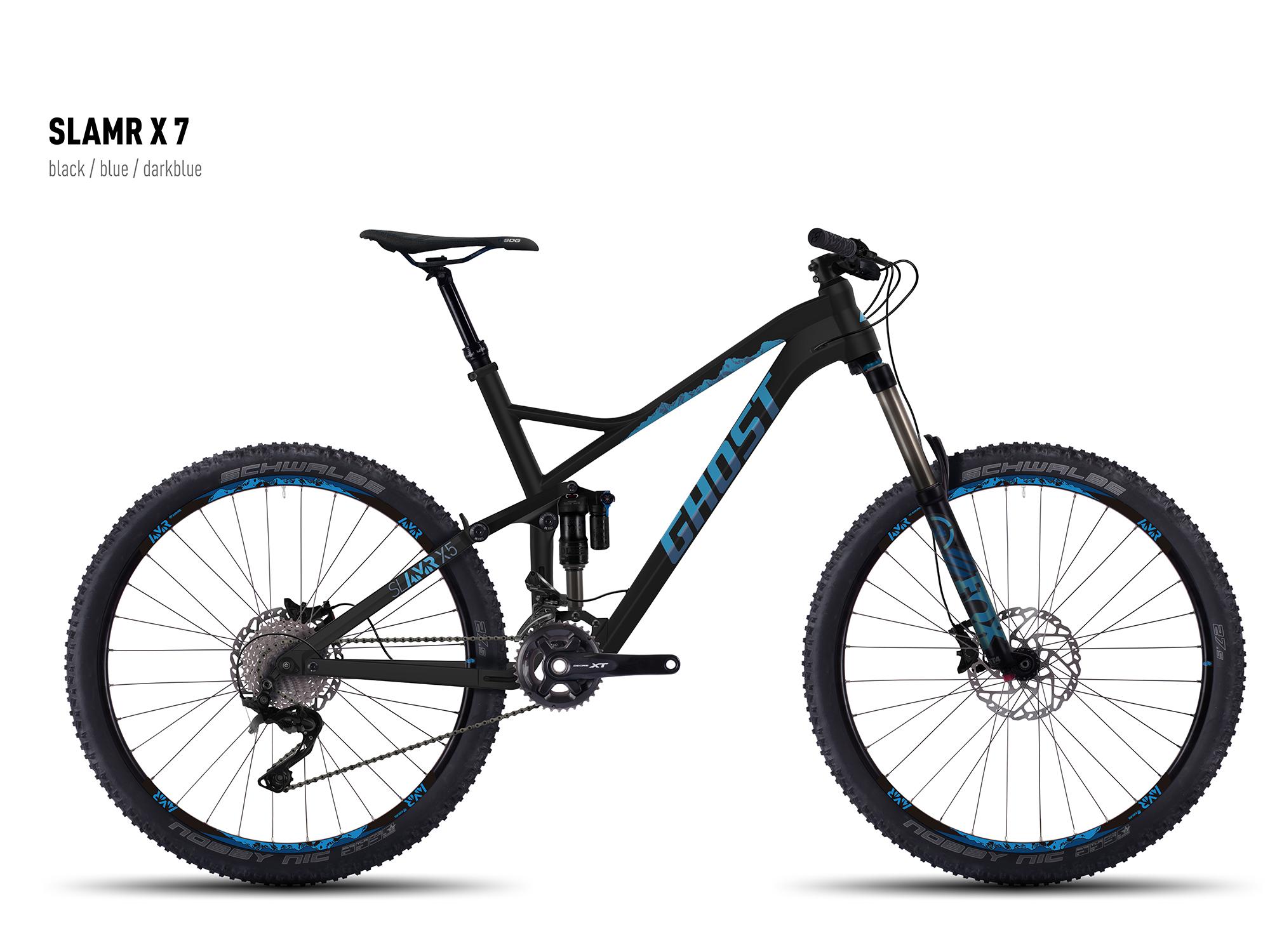"GHOST SL AMR X 7 black/blue/darkblue S / 44cm / 17,5"" , 2016"