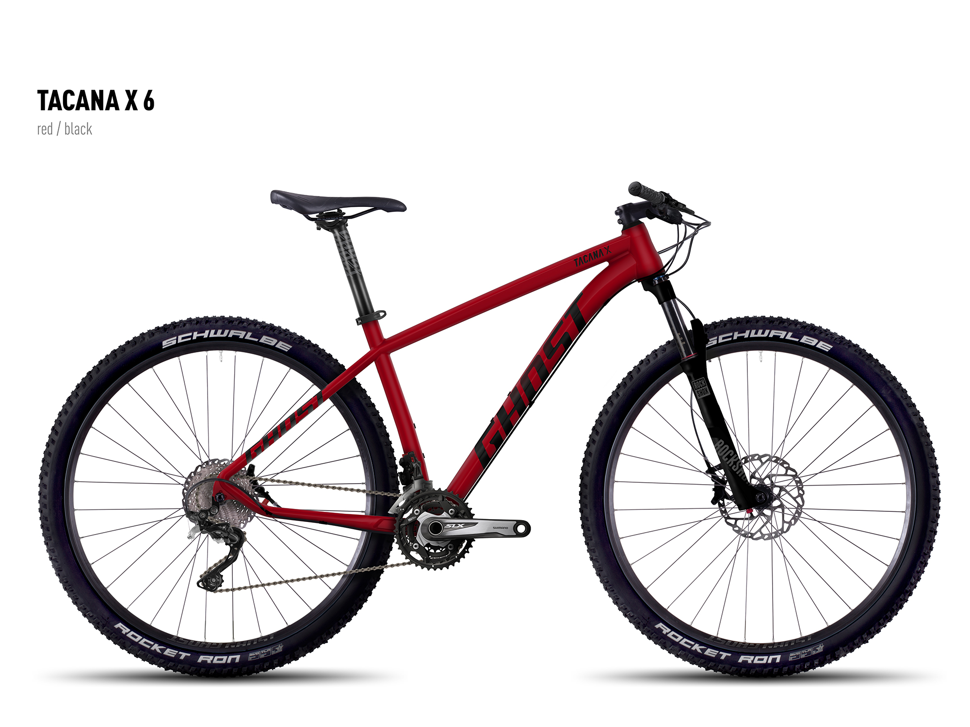 "GHOST Tacana X 6 red/black S / 42cm / 16.5"" , 2016"