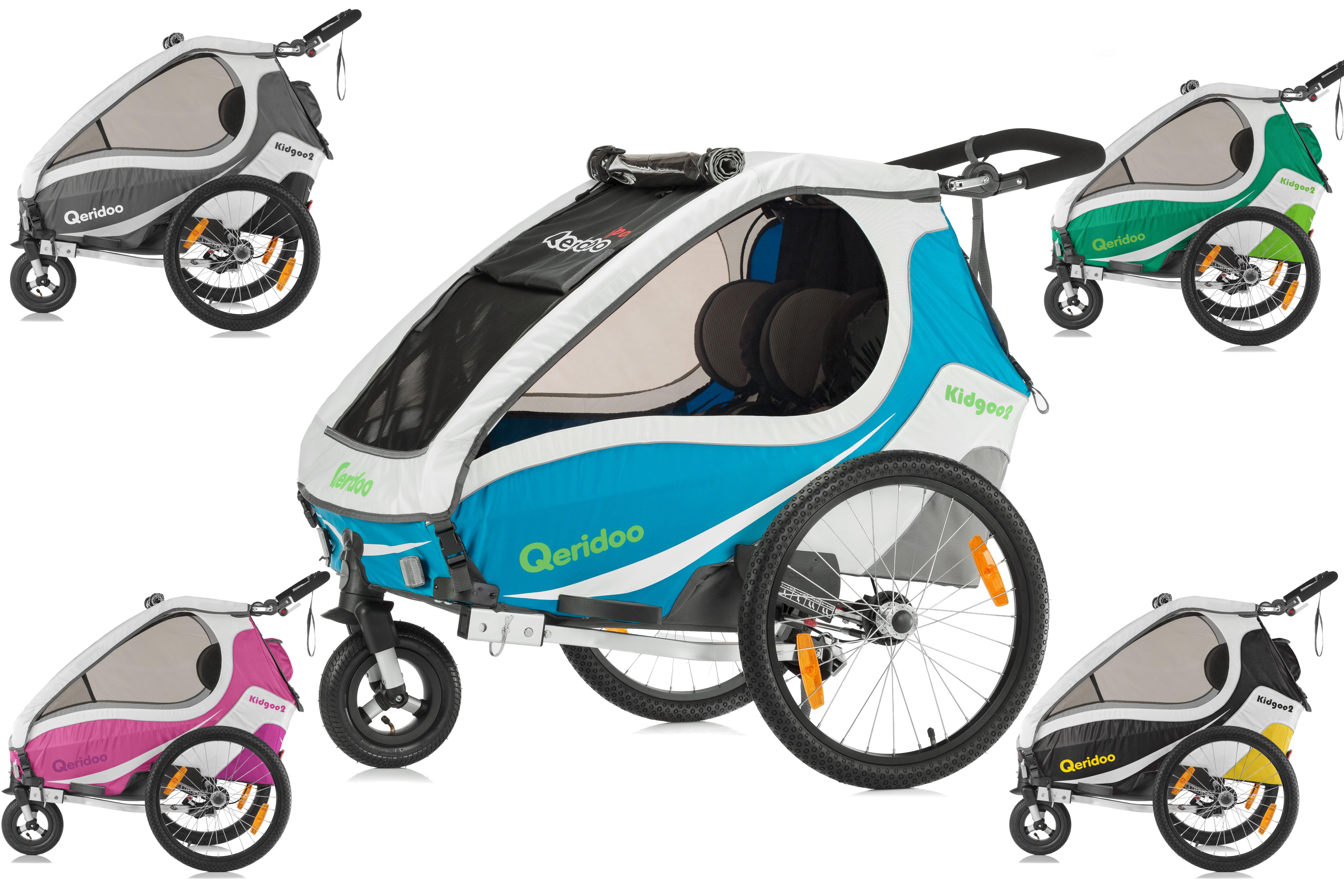 QERIDOO Vozík KidGoo 2 Zelená/Green , 2017