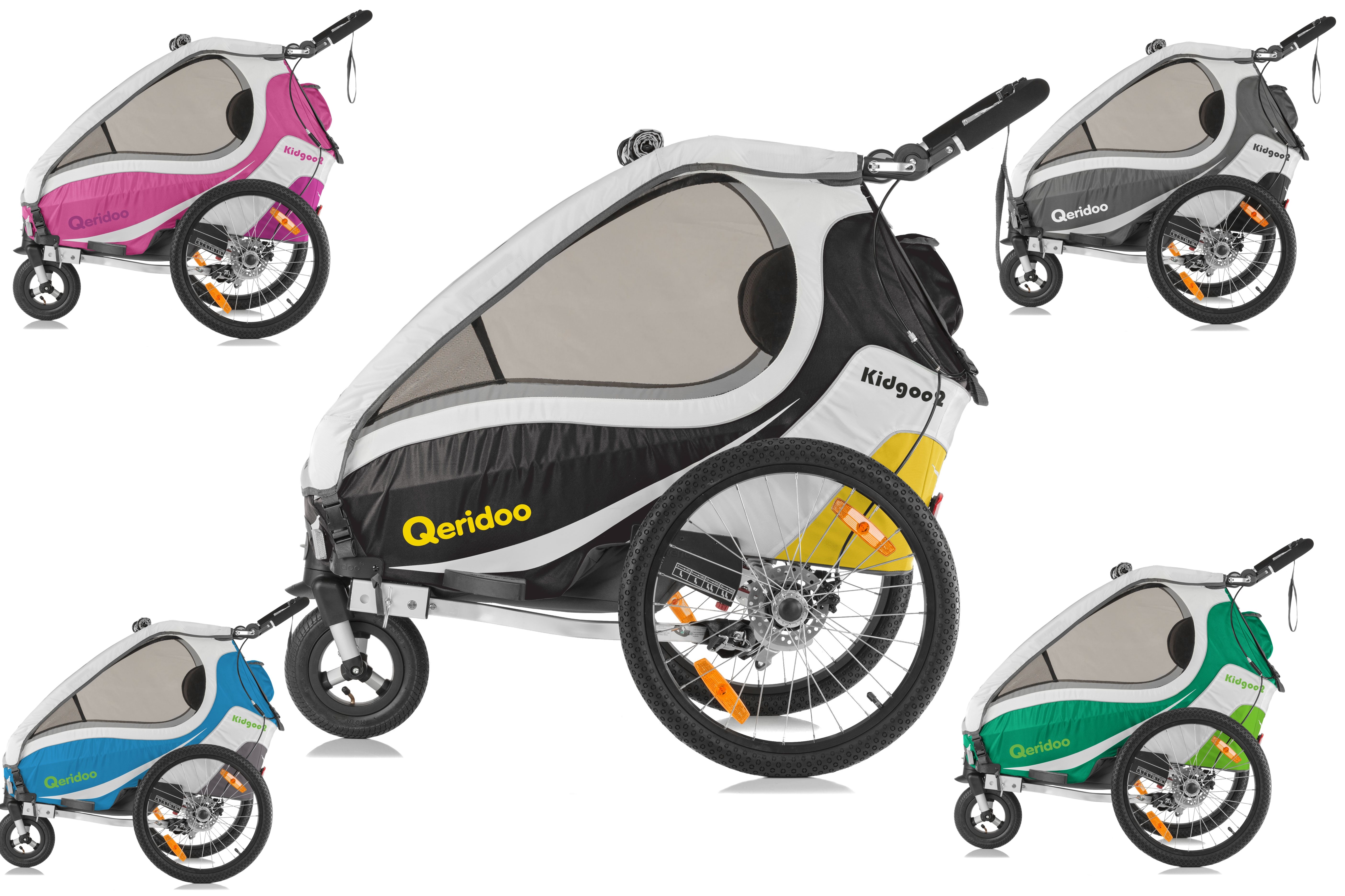 QERIDOO Vozík KidGoo 2 Sport Žlutá/Yellow , 2017