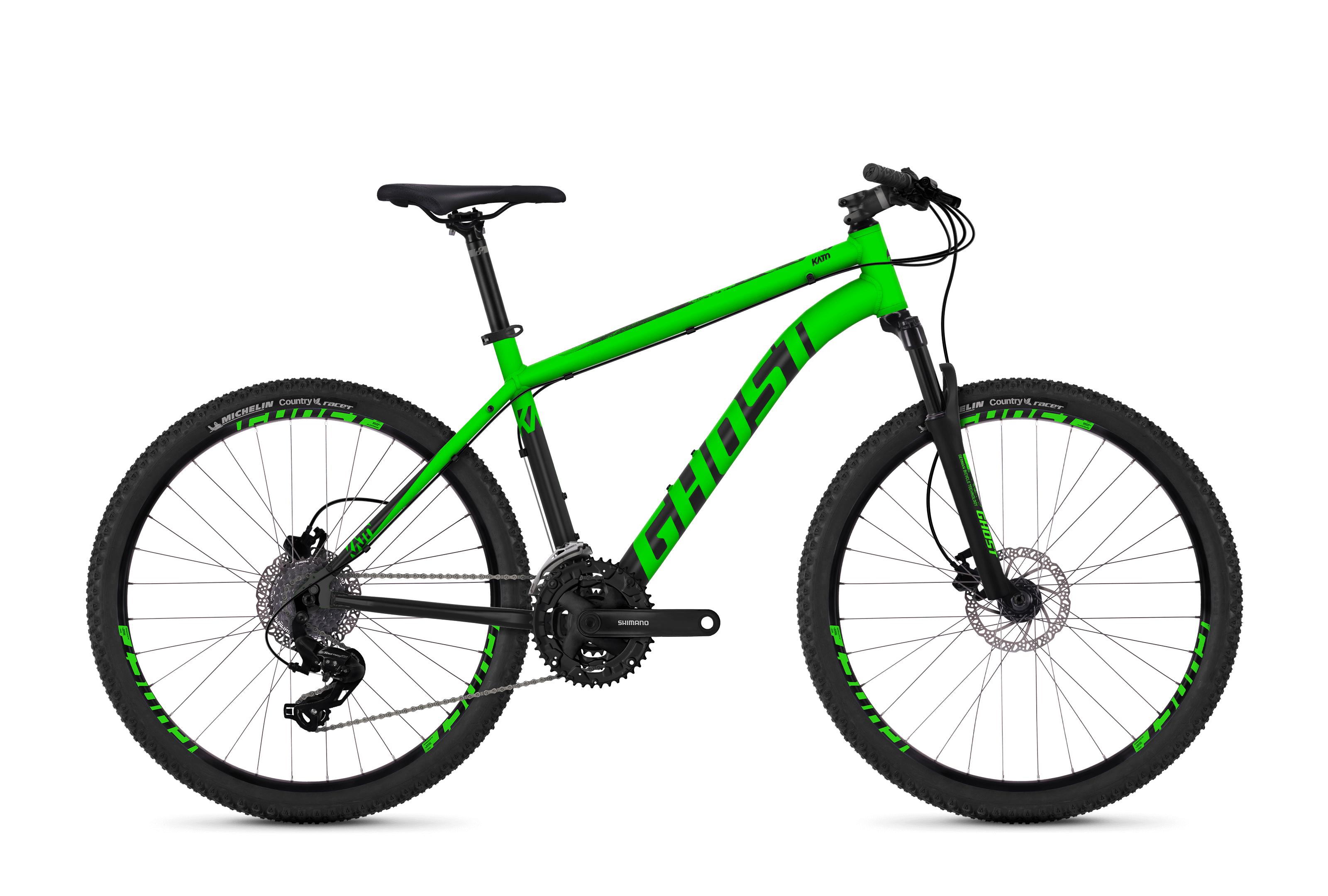Horské kolo GHOST Kato 1.6 green / black XXS 2018