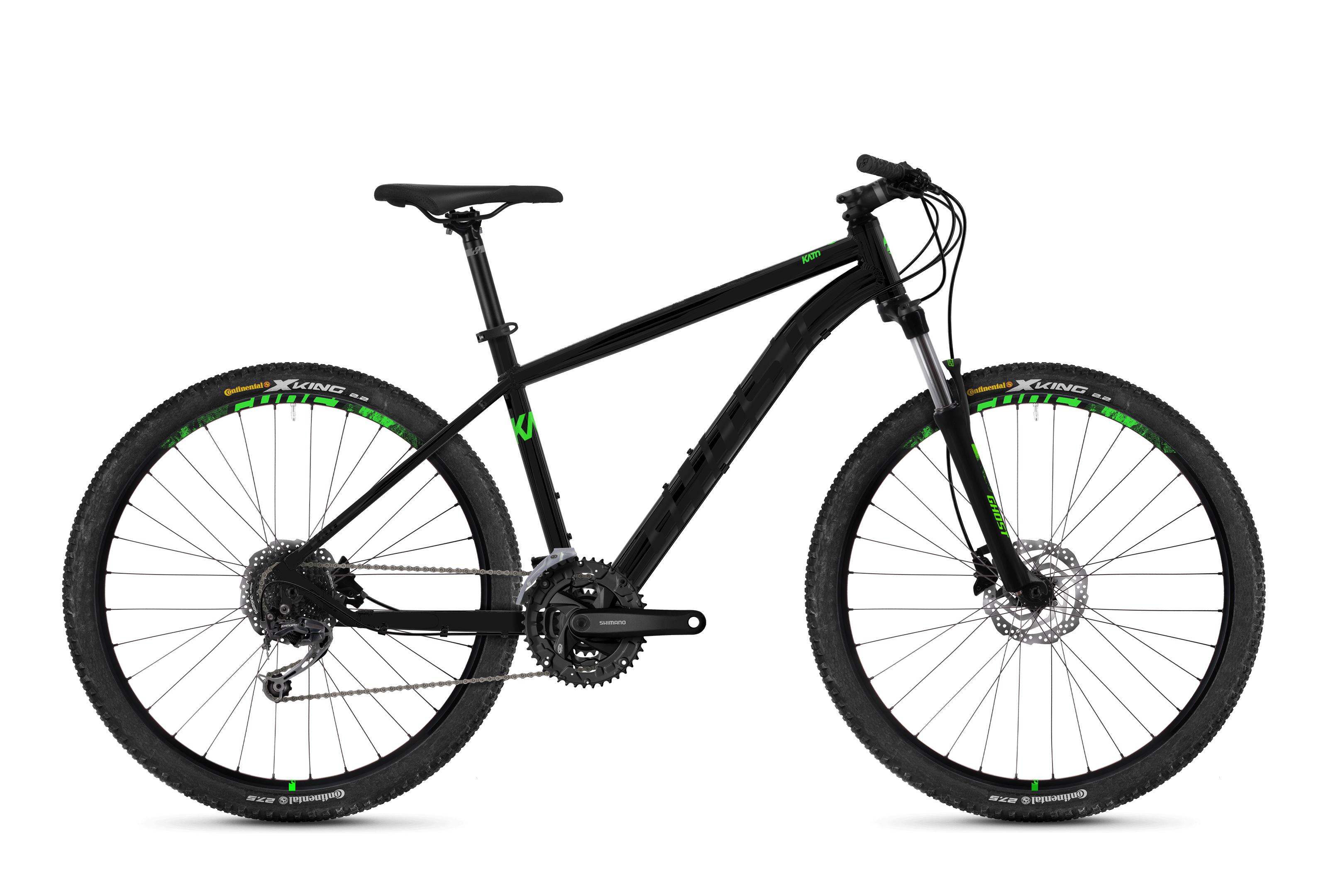 Horské kolo GHOST Kato 4.7 black / green XS 2018