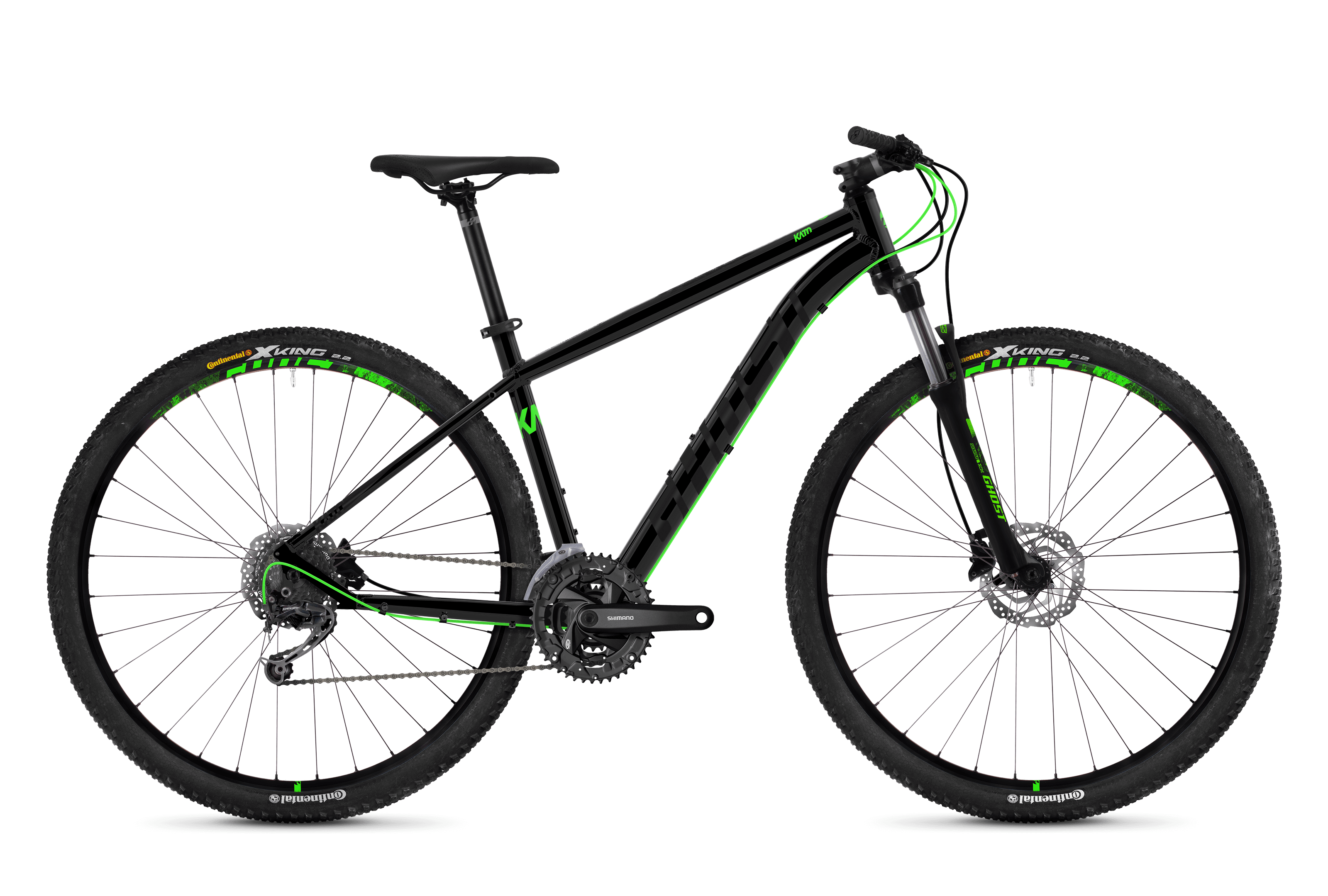 Horské kolo GHOST Kato 4.9 black / green S 2018