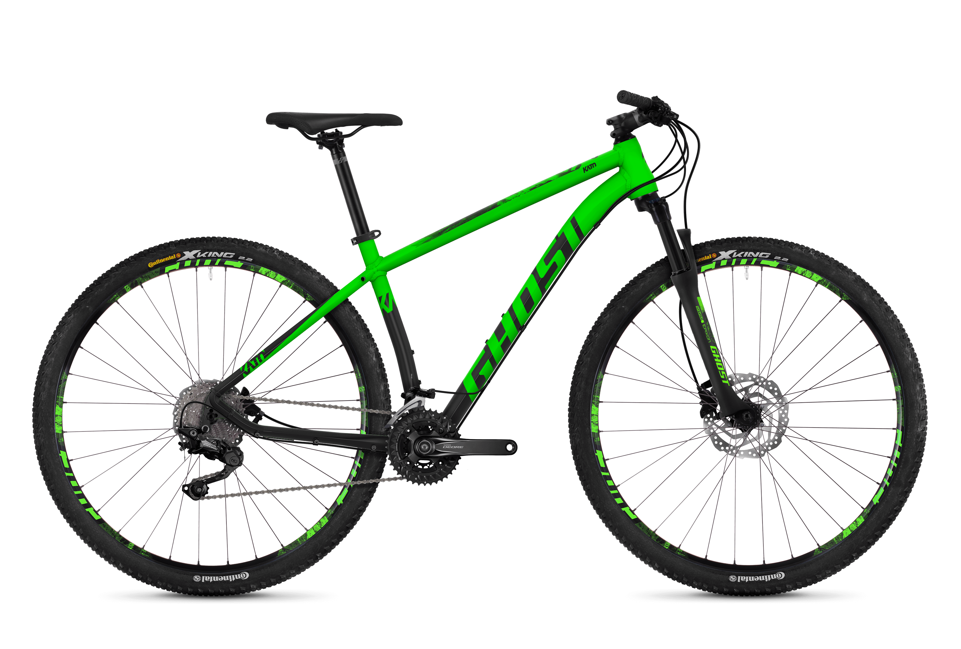 Horské kolo GHOST Kato 6.9 green / black XL 2018