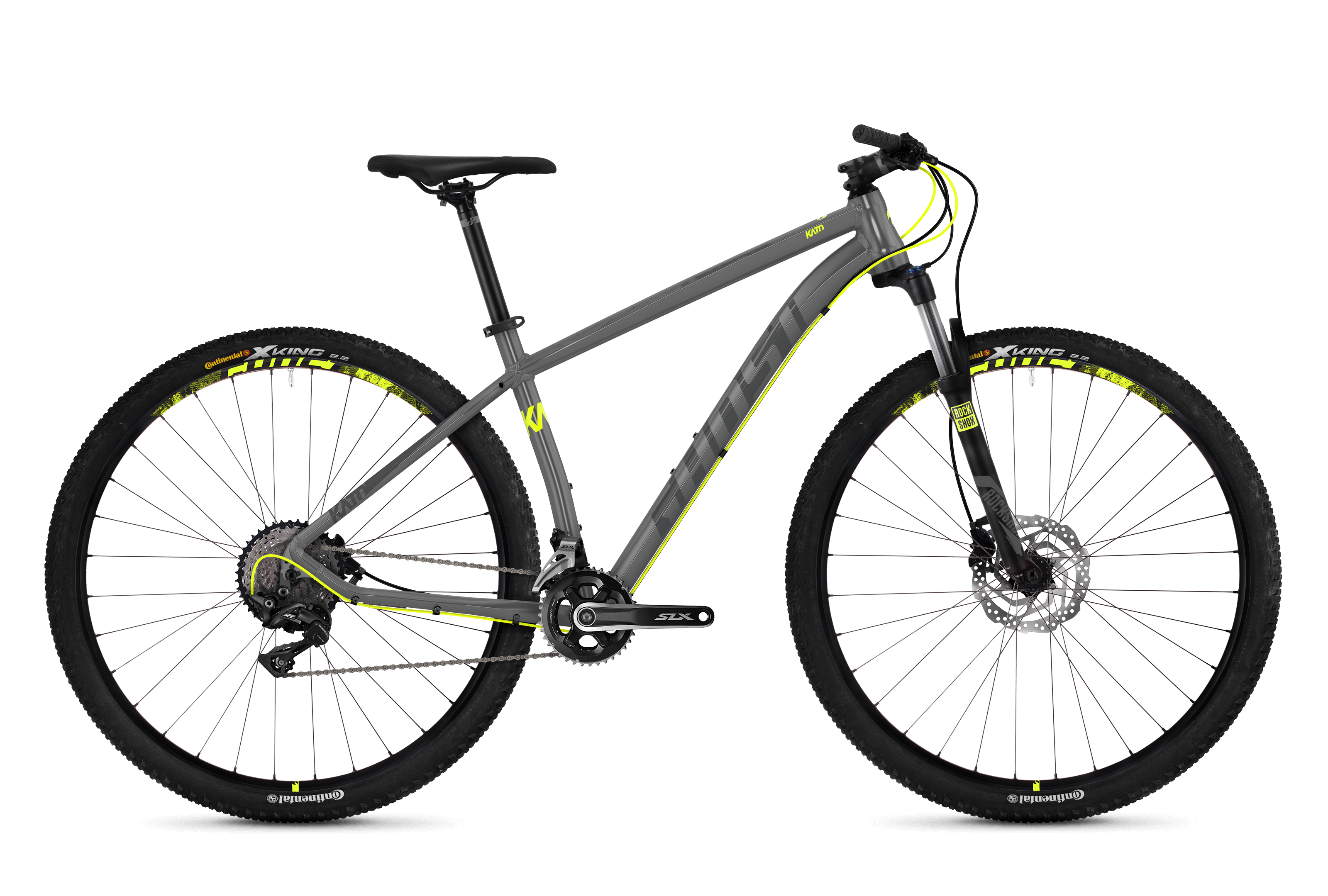 Horské kolo GHOST Kato 7.9 grey / yellow XL 2018
