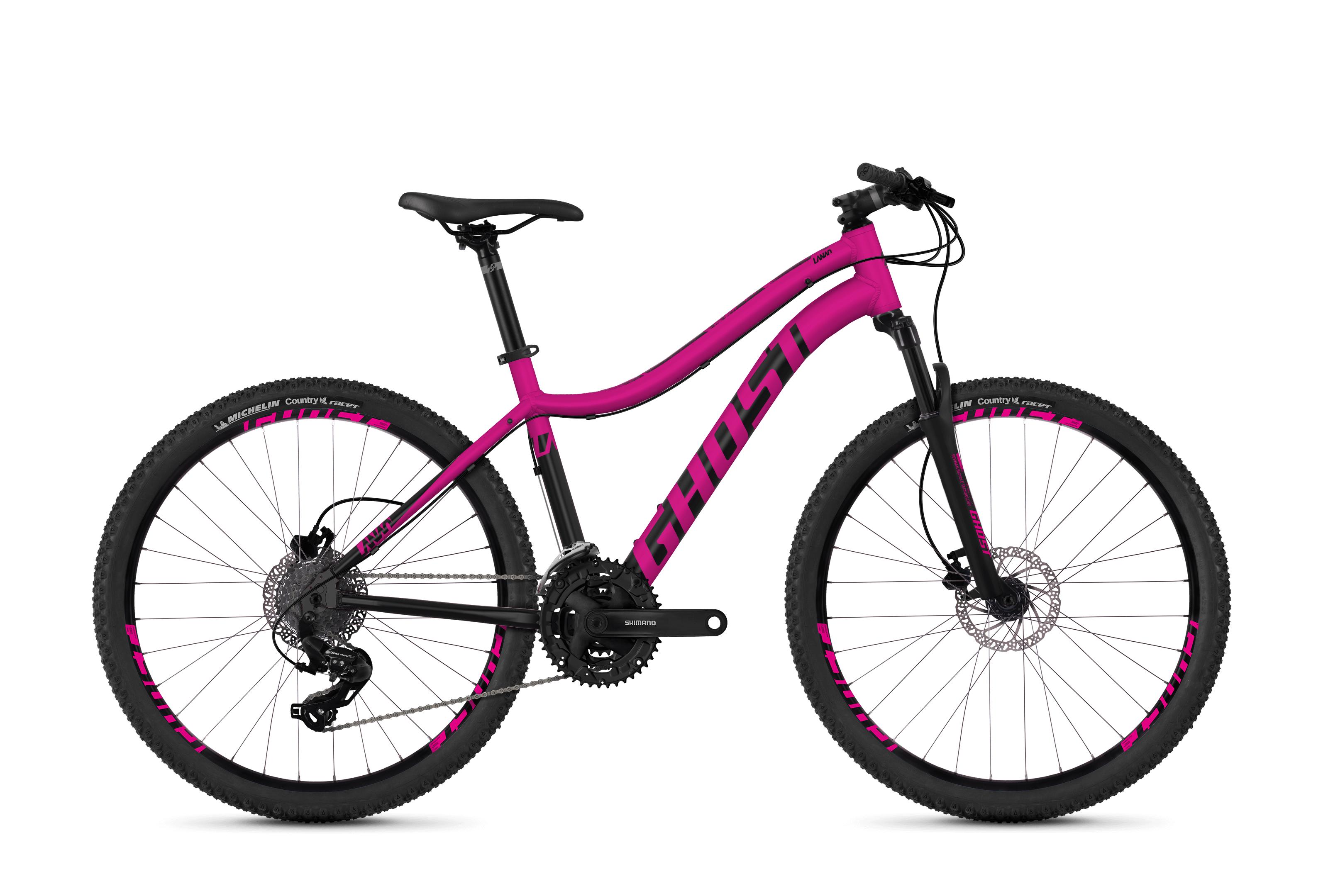Dámské horské kolo GHOST Lanao 1.6 pink / black XS 2018