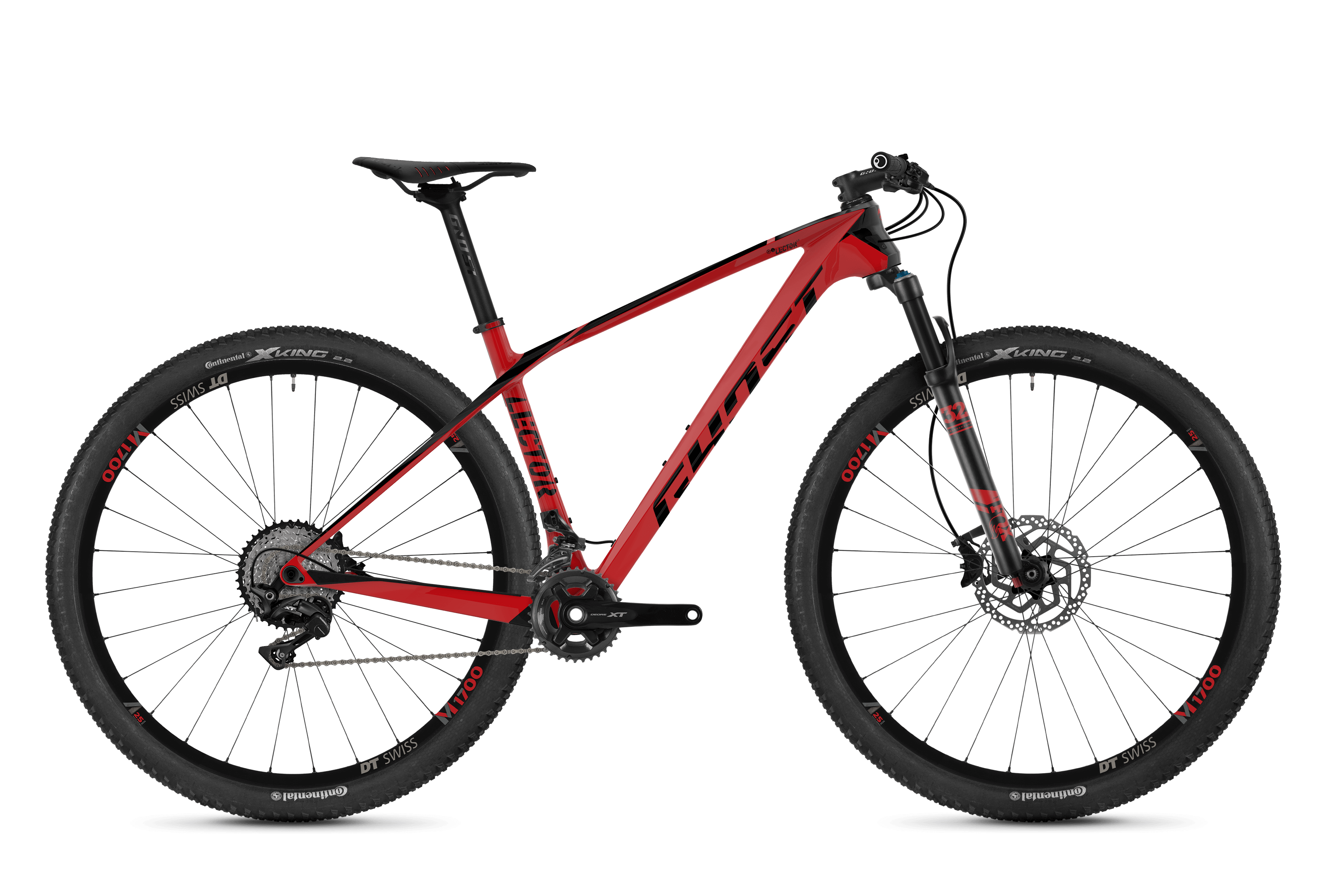Horské kolo GHOST Lector 6.9 LC red / black XS 2018