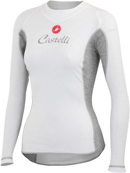 Castelli - dámské funkční prádlo Flanders Warm LS, bílá