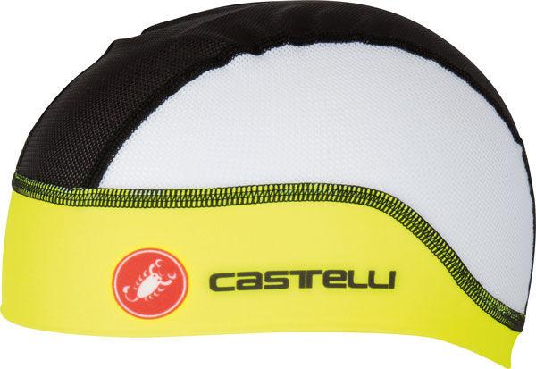 Castelli – čepice pod přilbu Summer, black/yellow fluo