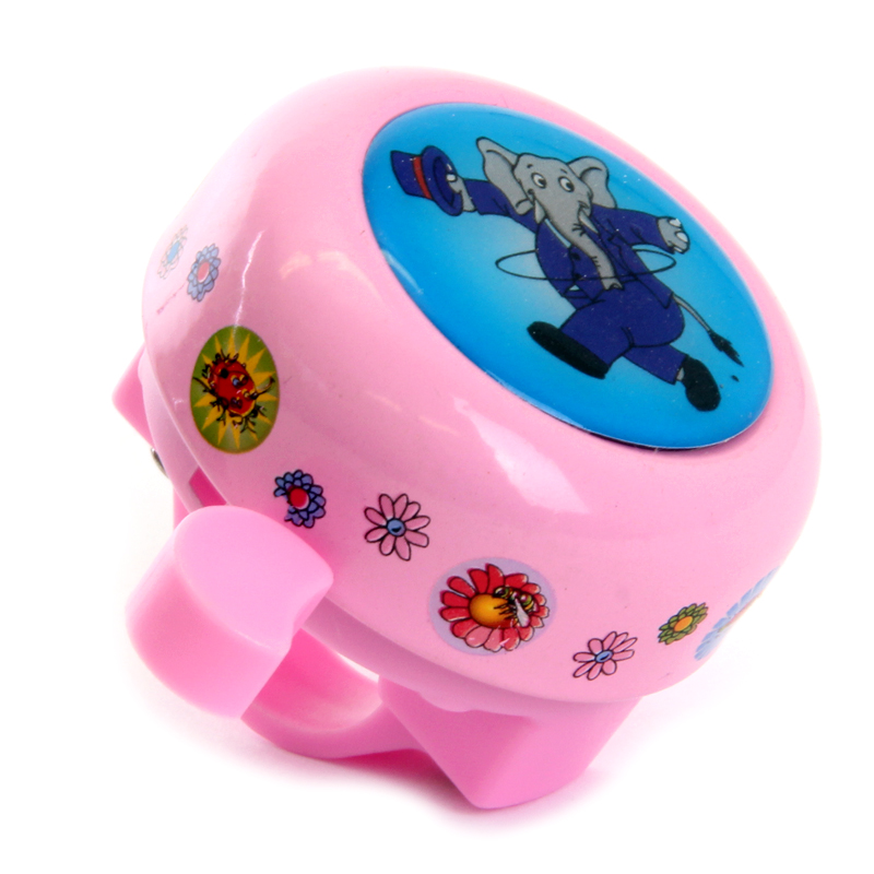 Zvonek dětský růžový slon