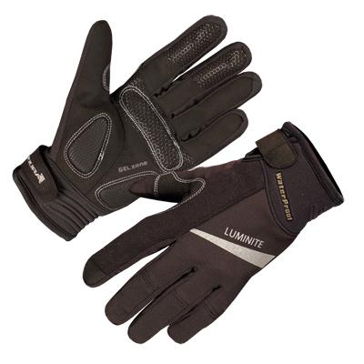 Dlouhoprsté Endura Luminite rukavice Černá M