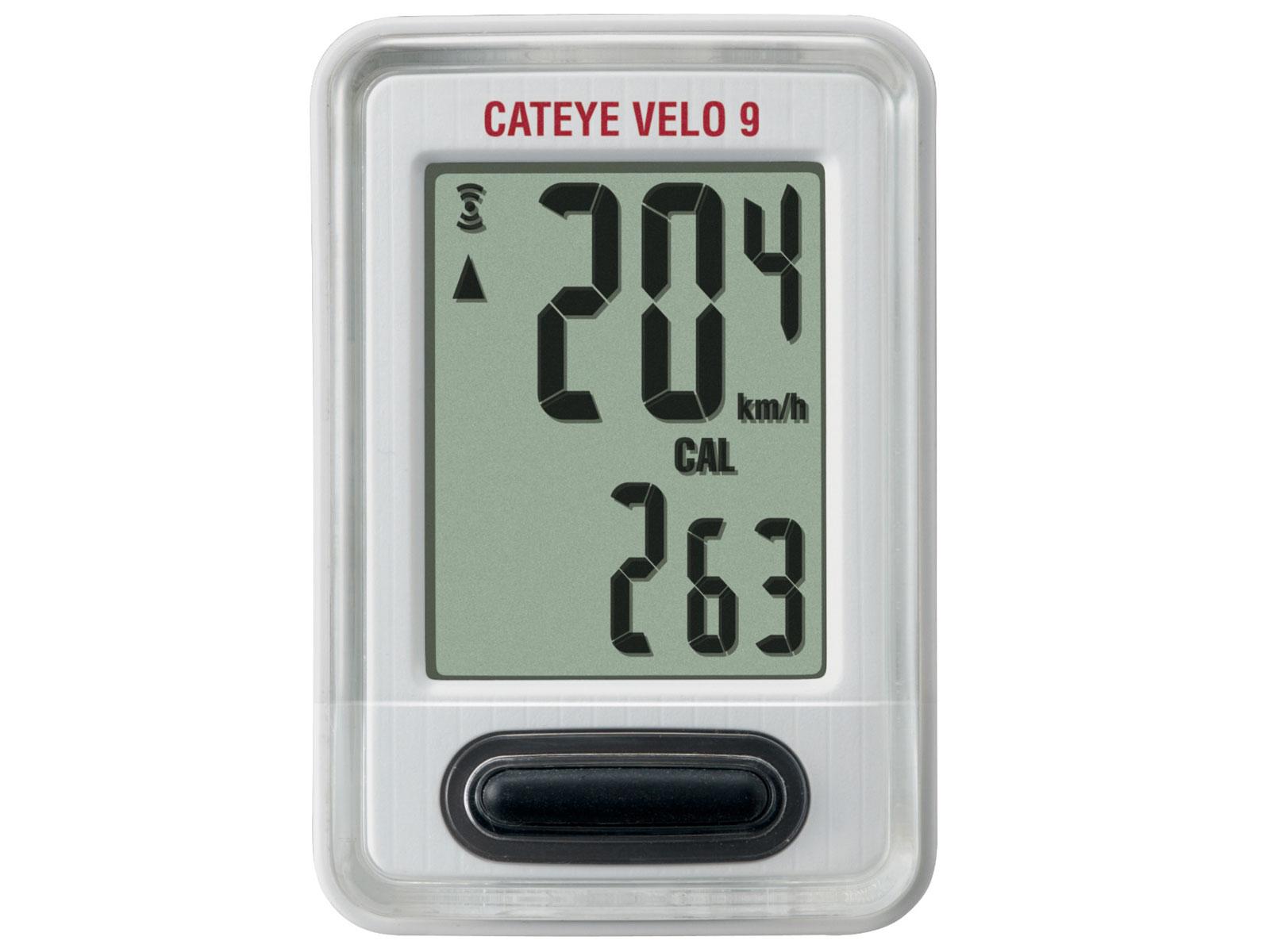 CATEYE Cyklopočítač CAT Velo 9 (VL820) (bílá)