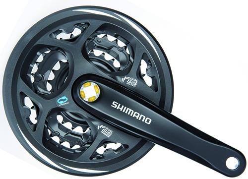SHIMANO kliky ALTUS FC-M311 4hran 3x7/8 175 mm 42x32x22z bez krytu černé