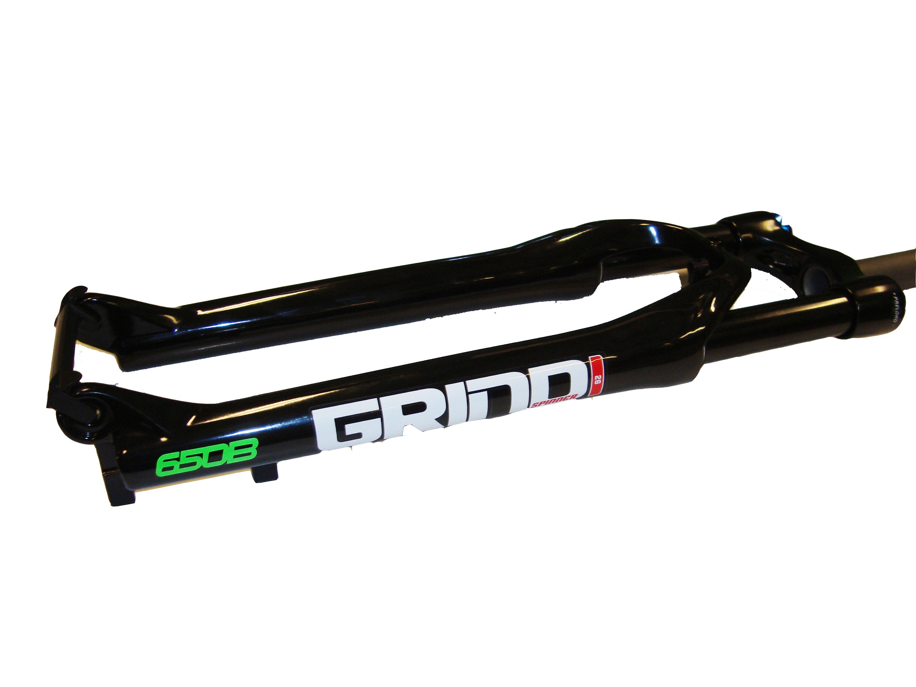 SPINNER 27,5'' odpružená vidlice GRIND, zdvih 100mm, DISC, 1-1/8'', černá