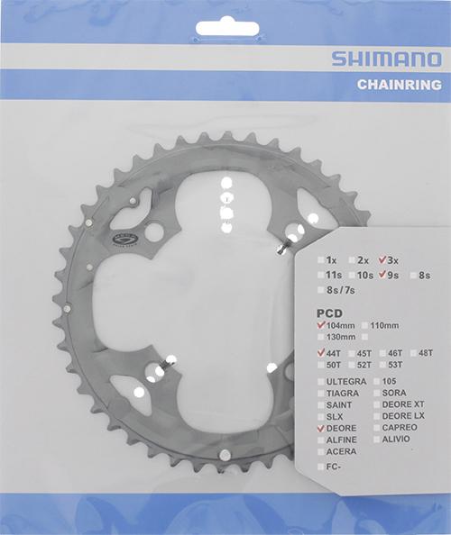 Převodník Shimano DEORE FC-M590 44z - šedý