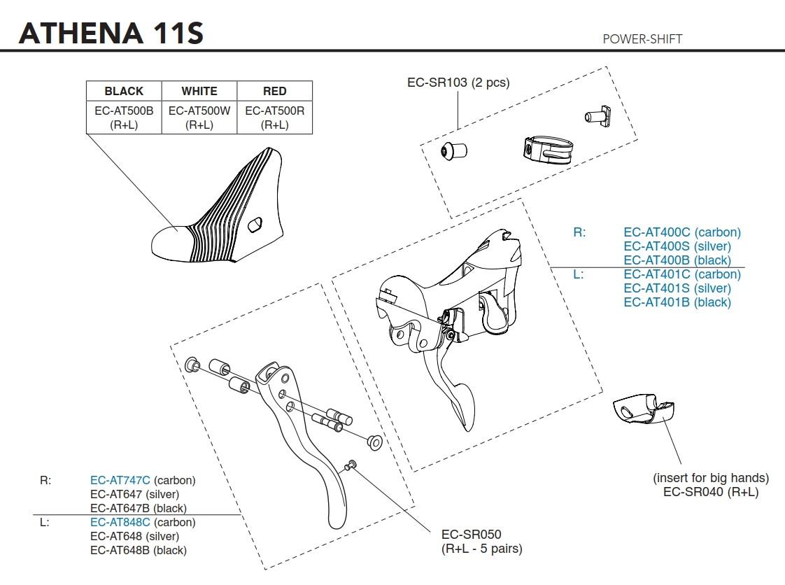 Campagnolo Tělo řadící páky Power Shift 10s/11s, levé (od r.v. 2015)
