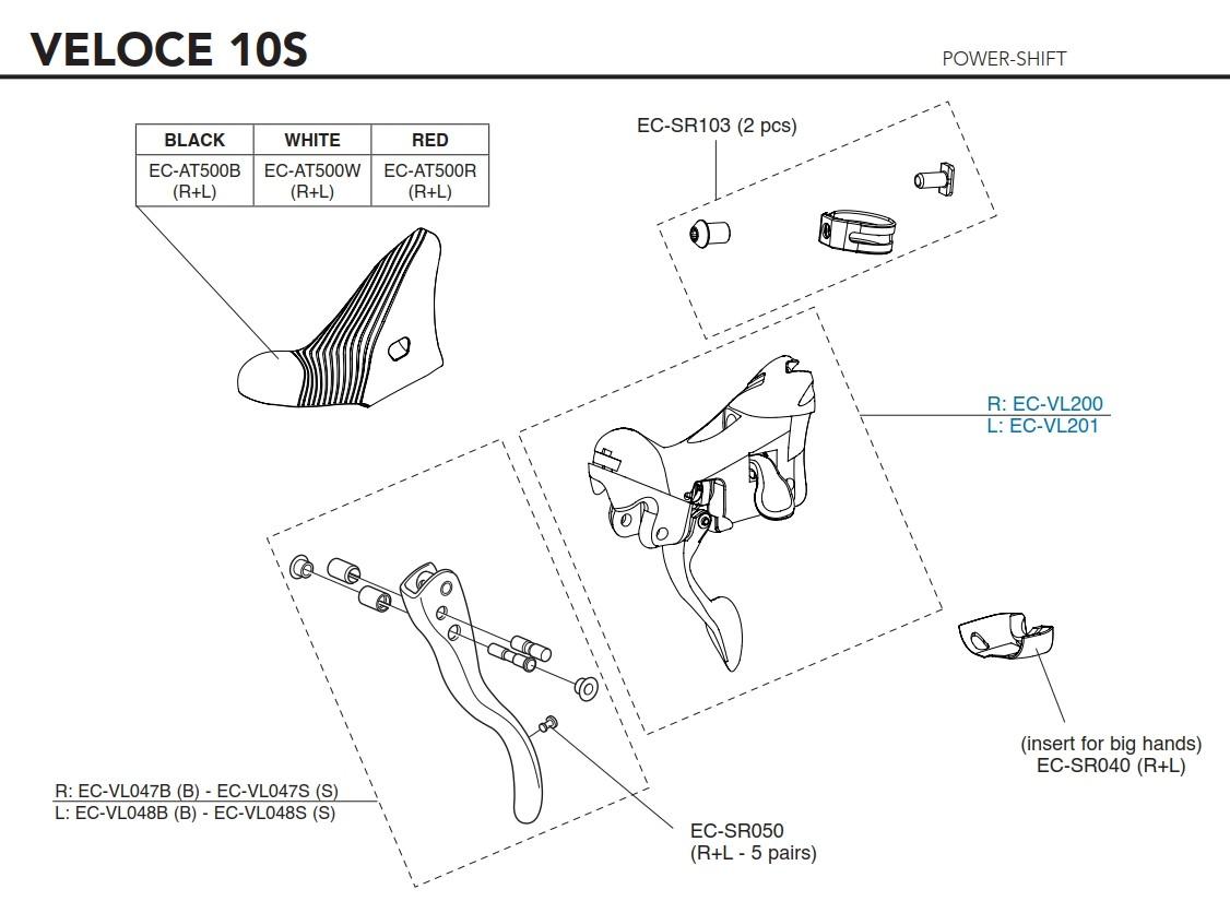 Campagnolo Tělo řadící páky Power Shift 10s, pravé (od r.v. 2015)