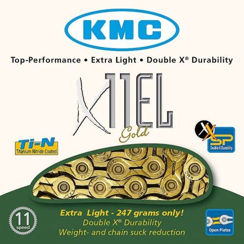 Řetěz KMC X-11 EL Gold - zlatý11sp - Balený