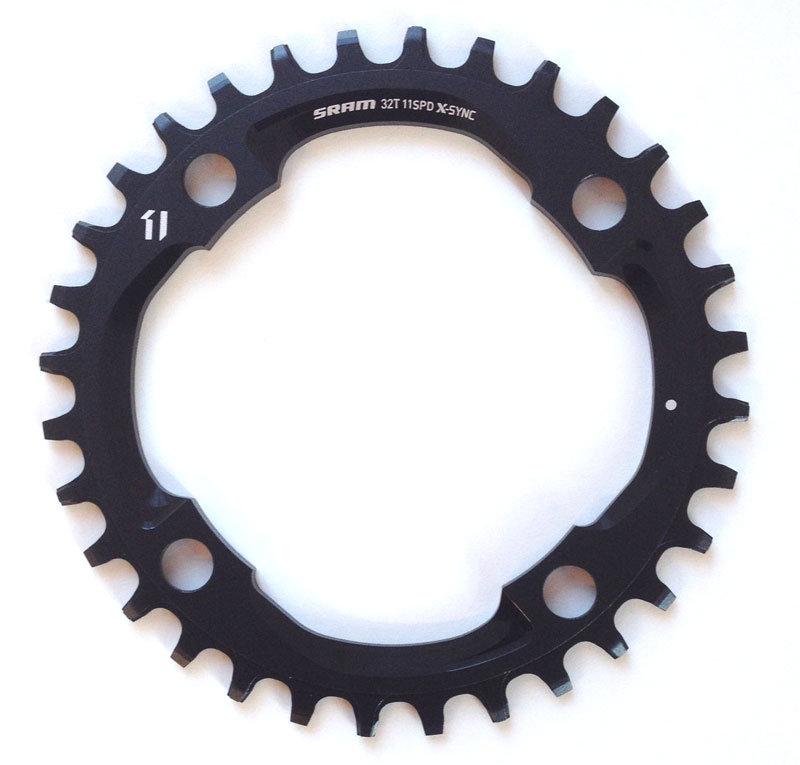 Převodník SRAM X01 X-Sync 36 zubů, 104 BCD, Al 5 mm, černý, 11 rychl.