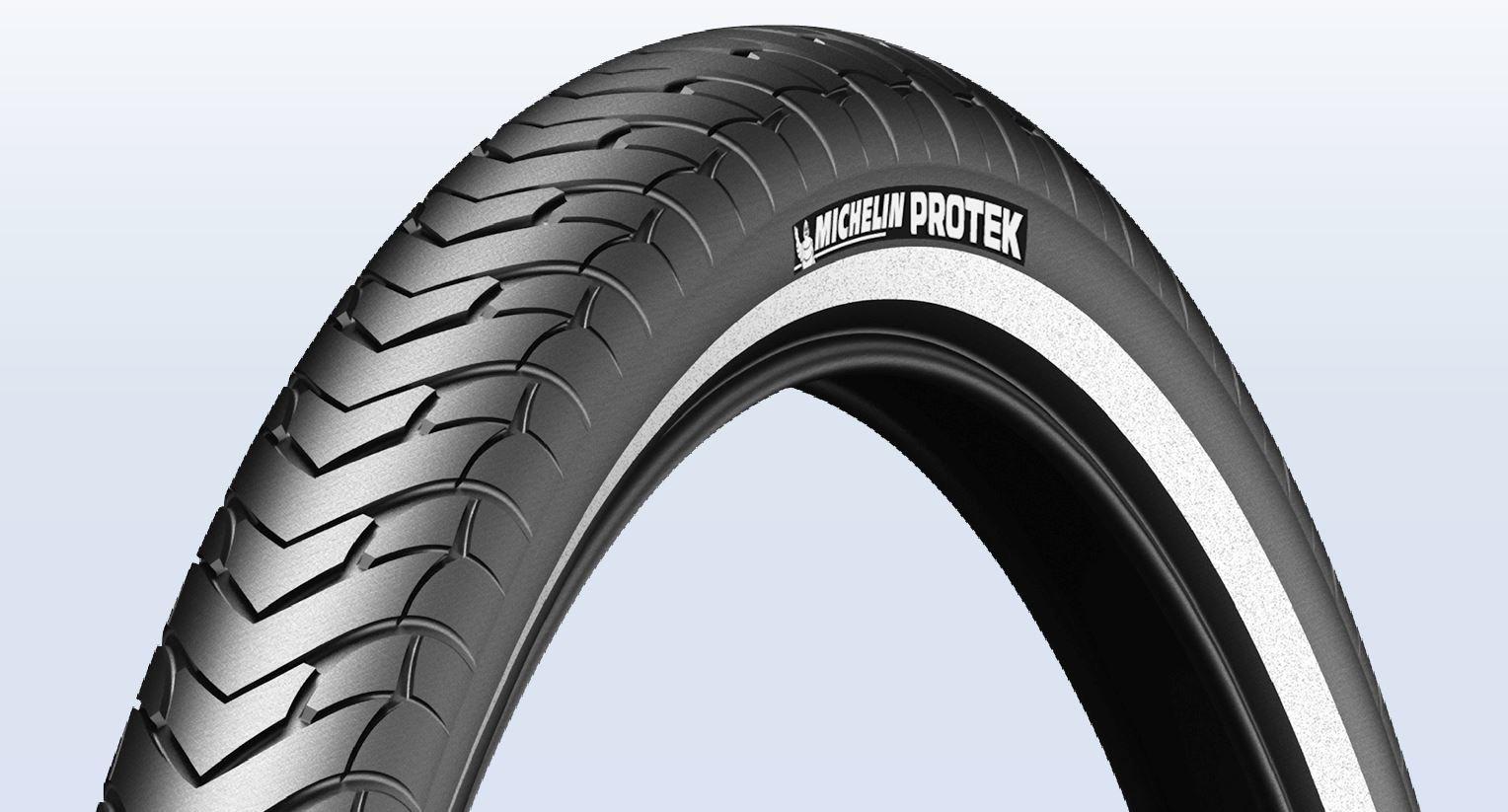 Plášť Michelin Protek 32-622 černý s reflexním pruhem, drát