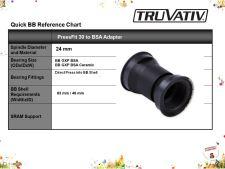 Osa Truvativ PressFit 30 to BSA adapter, 83mm
