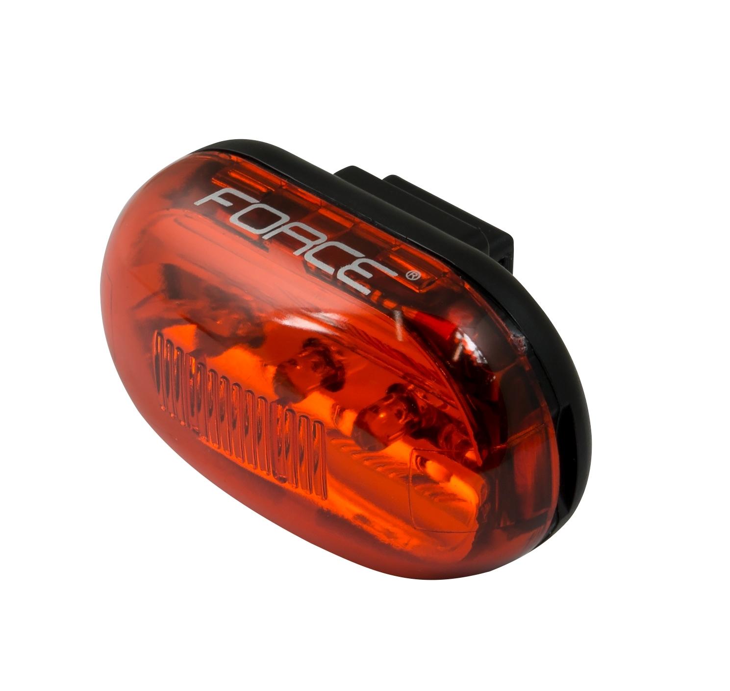 blikačka zadní FORCE PAS 5 diod + baterie