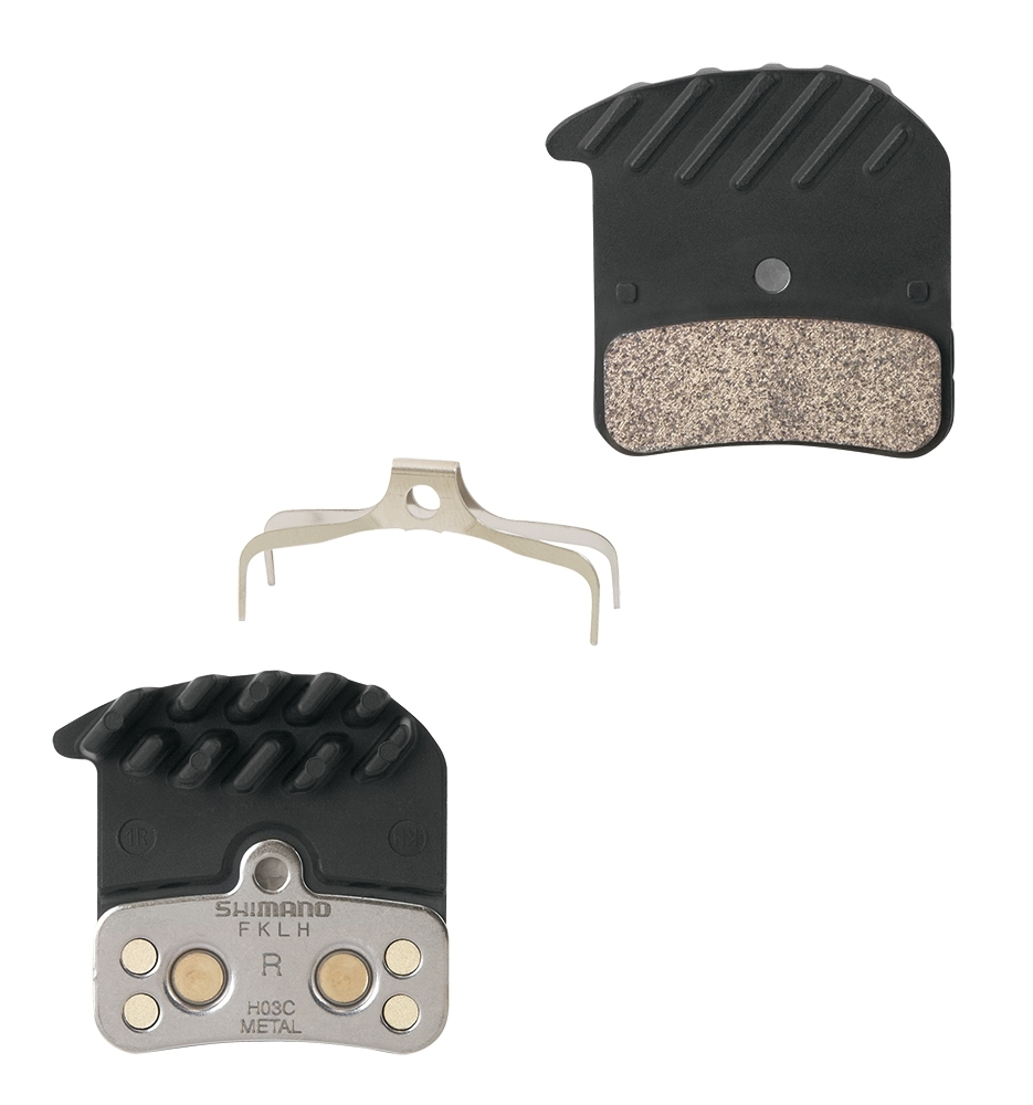 SHIMANO destičky brzd SHM640/820 kovové,s pružinou+chladič