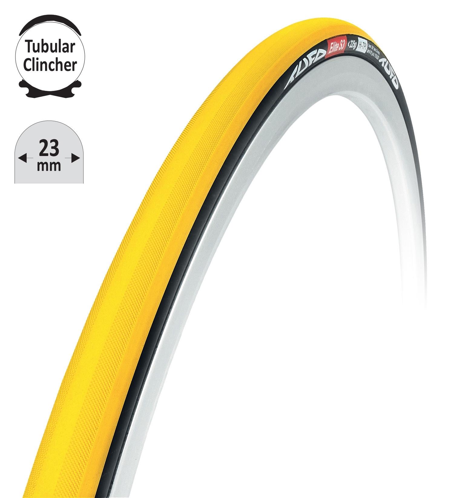 "TUFO galuska-clincher T.C ELITE S3 žluto-černá 28""/23mm"