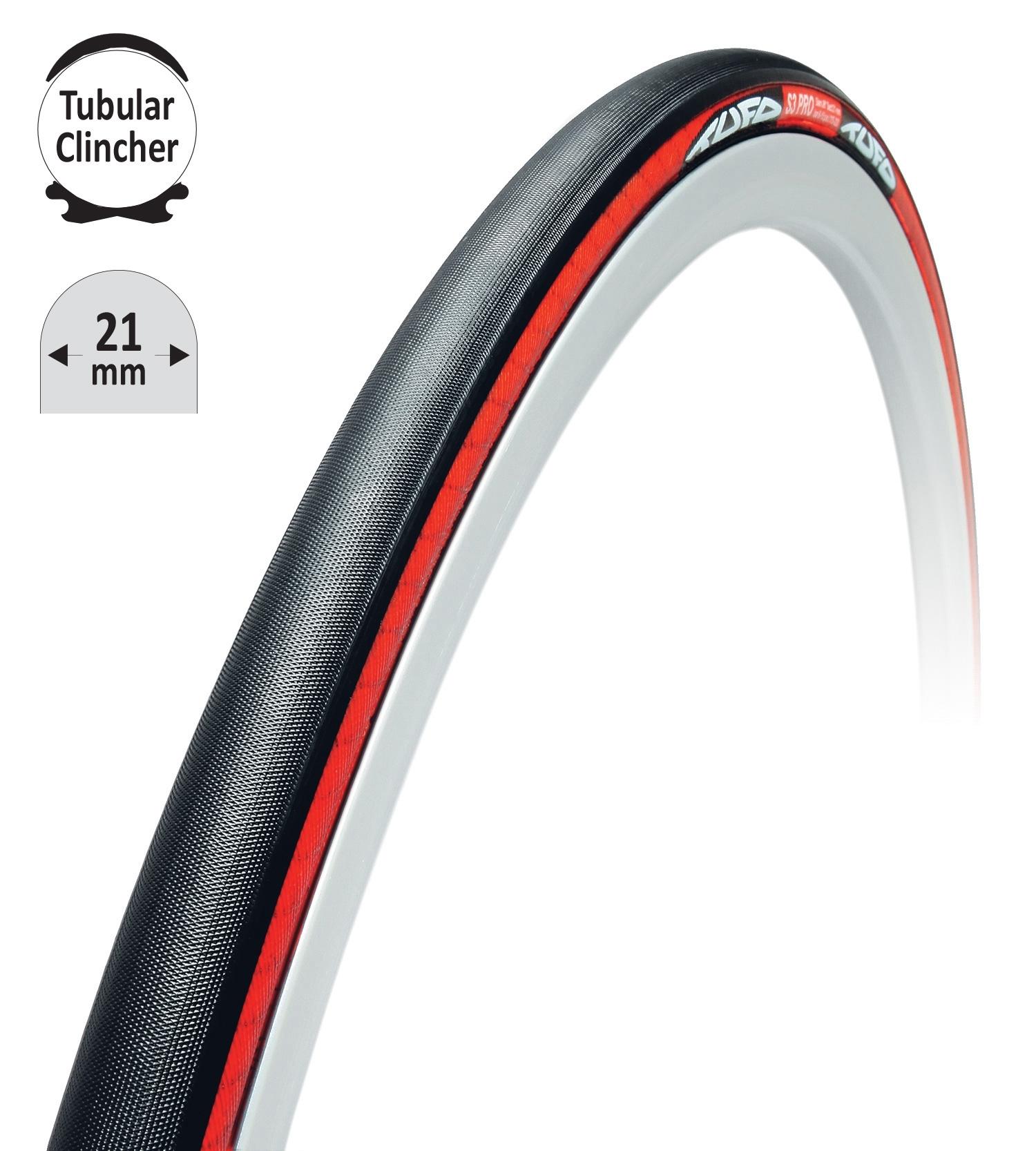 """TUFO galuska-clincher T.C S3 PRO černo-červená 28""""/21mm"""