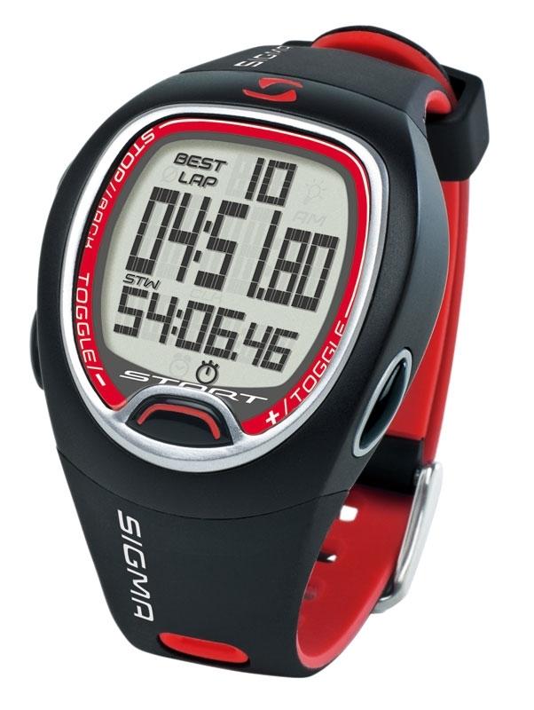 hodinky-stopky SIGMA SC 6.12 černo-červené