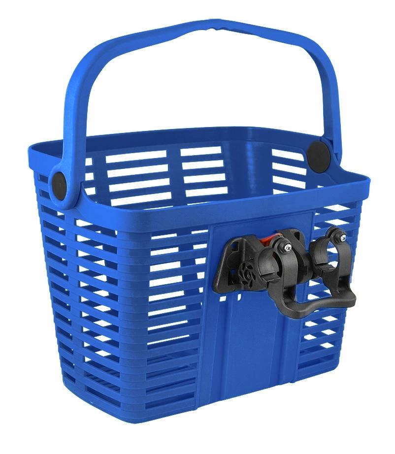 BELLELLI košík plastový na řídítka KLICK FIX, modrý