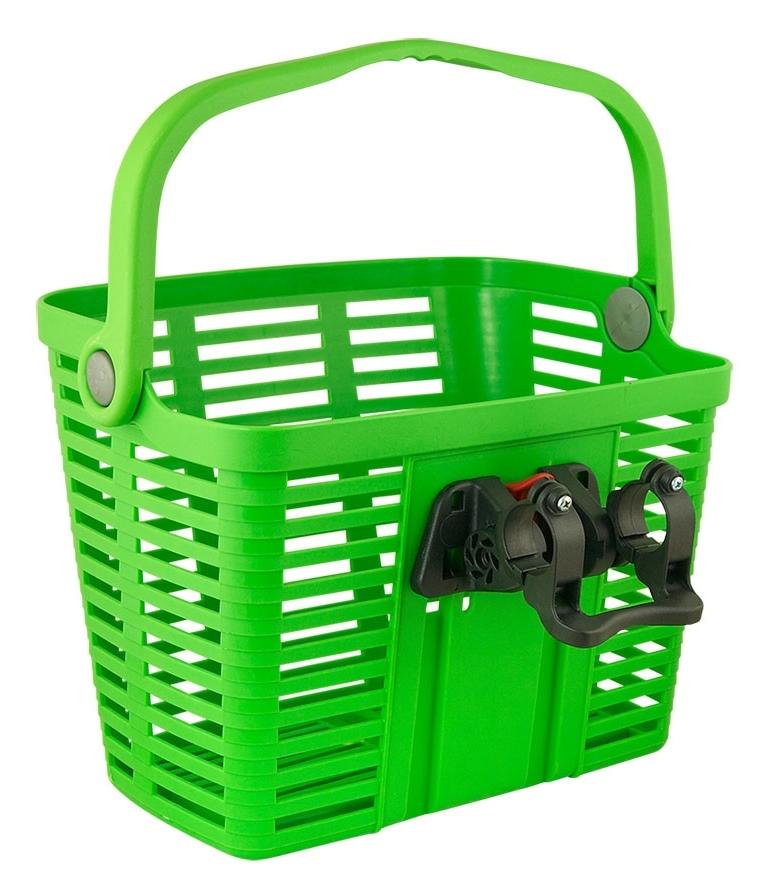 BELLELLI košík plastový na řídítka KLICK FIX, zelený