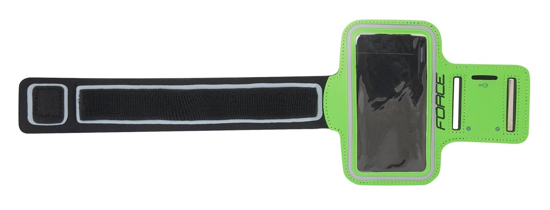 obal FORCE na mobil na ruku při sportování, zelený