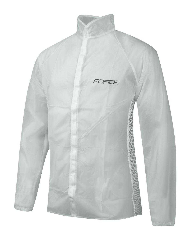 pláštěnka FORCE PVC čirá, suchý zip XL
