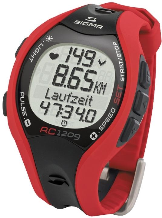 počítač SIGMA pulsmetr běžecký RC 1209 červený
