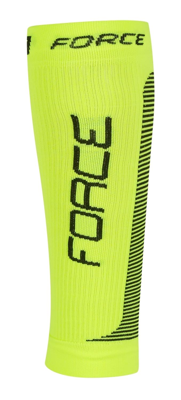 ponožky-kompresní návleky FORCE, fluo-černé S-M