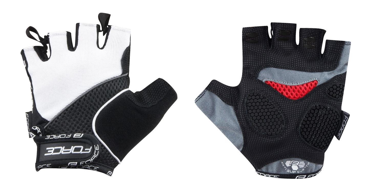 rukavice FORCE AMARA gel, bílé L