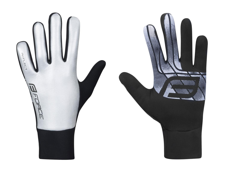 rukavice FORCE REFLECT, celoreflexní XL