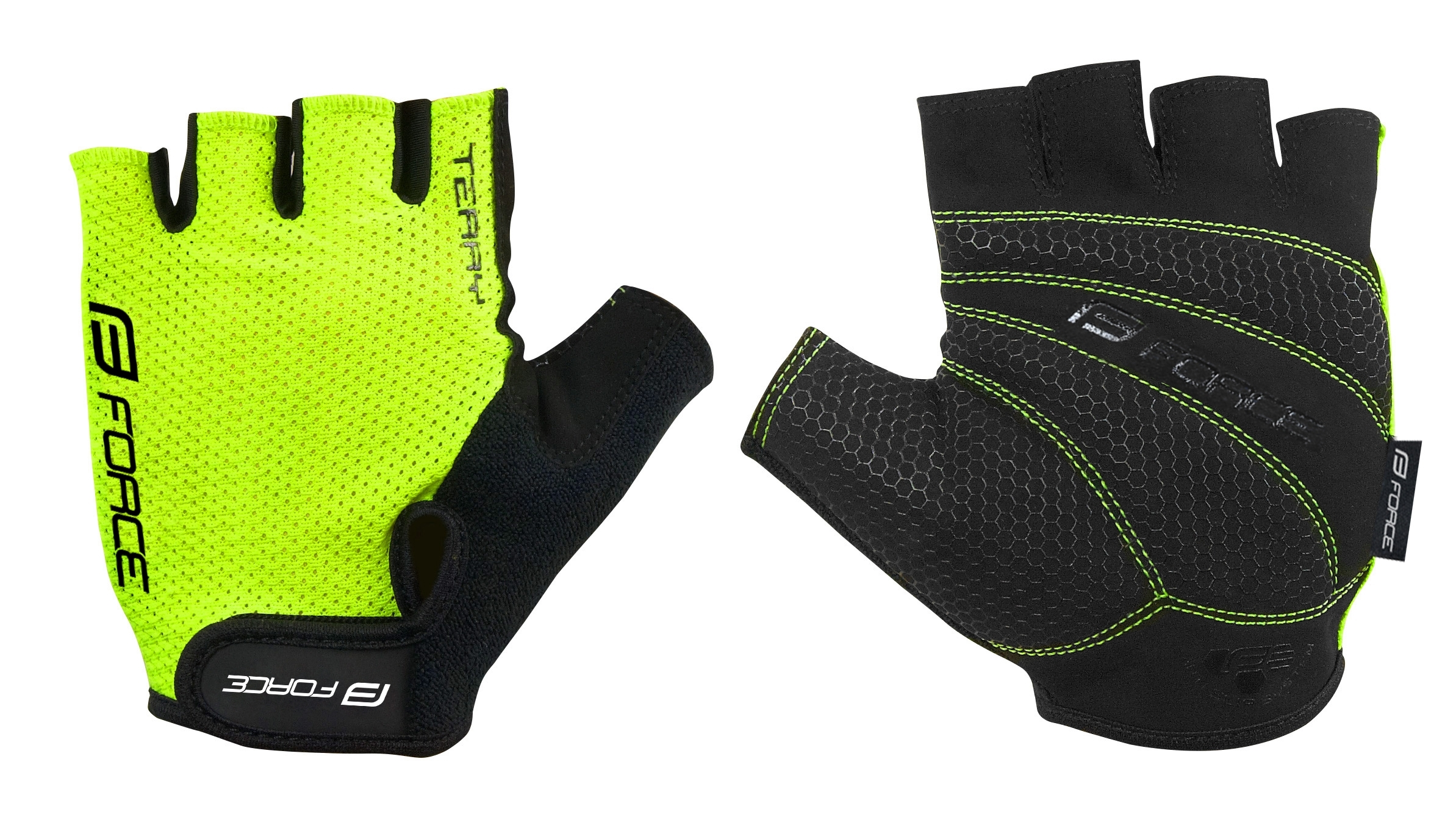 rukavice FORCE TERRY, fluo S