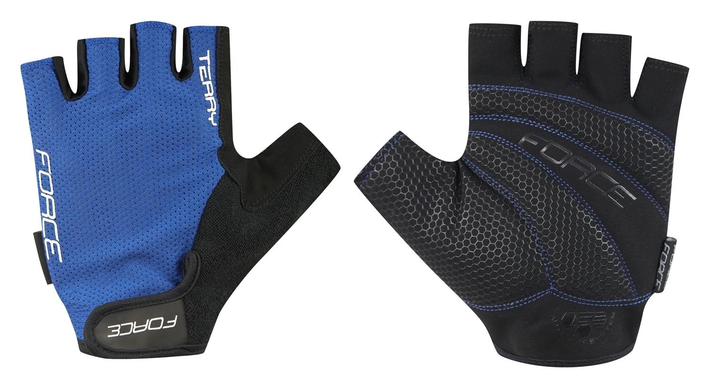 rukavice FORCE TERRY, modré M
