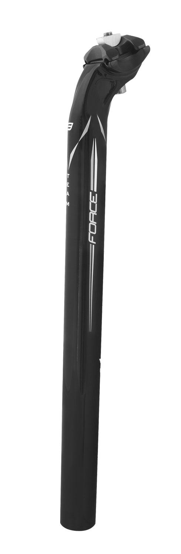 FORCE sedlovka F TEAM karbon 31,6/400mm, lesklá černá